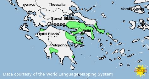 Arvanitika map