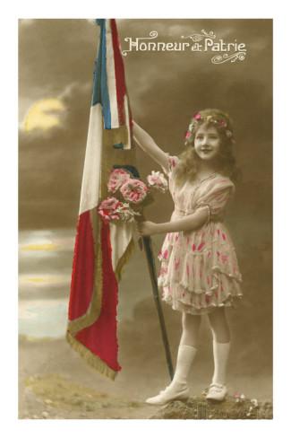 little-girl-holding-french-flag