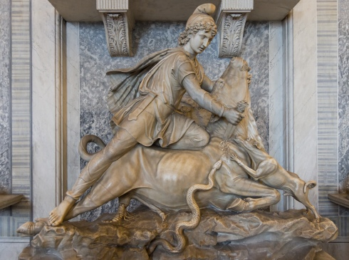 """Tauroctony"" - Mithras slaying a bull"