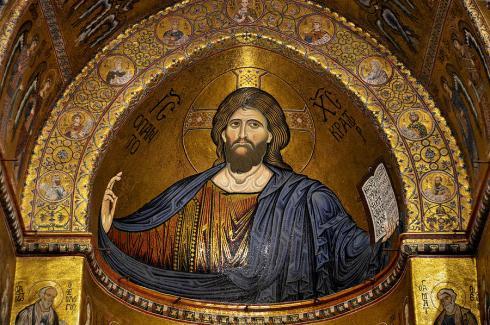 christ-pantocrator-mosaic-monreale Sicily