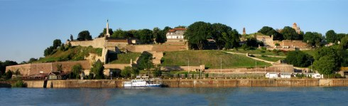 Kalemegdan from across Sava