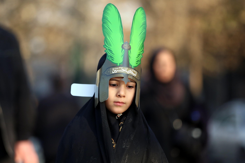 Arba'een ceremony in the Tehran, Iran