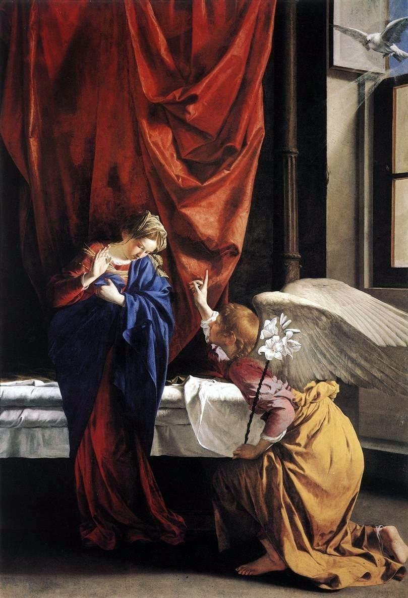 Orazio Gentileschi Annunciation