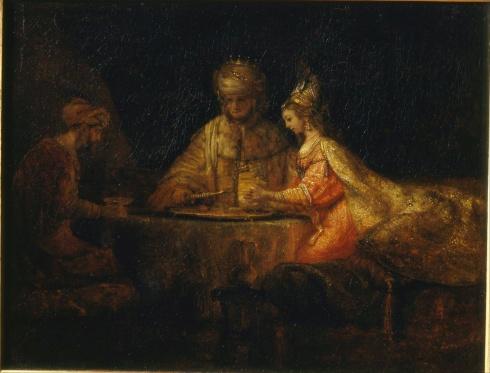 Rembrandt_Harmensz_van_Rijn_-_Ahasuerus,_Haman_and_Esther_-_Google_Art_Project