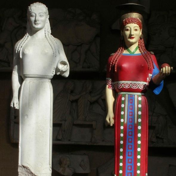 Painted Caryatides