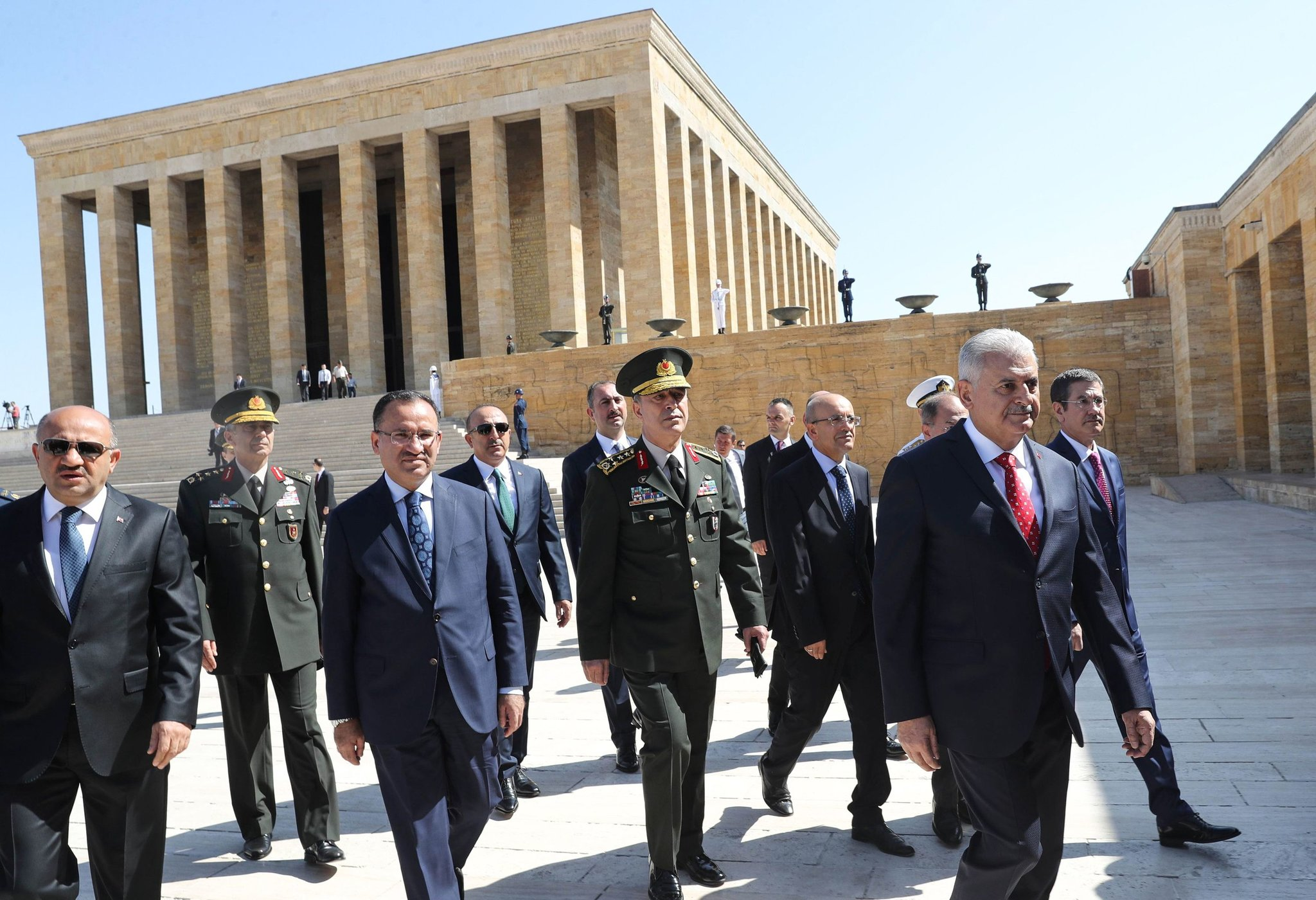 Ataturk Mausoleum Yildirim Chiefs of staff