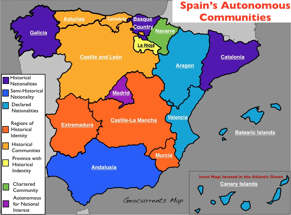 Spain4 autonomous regions