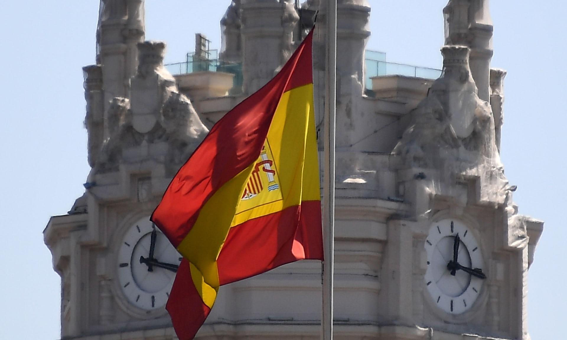 Spanish flag Cibeles Palace