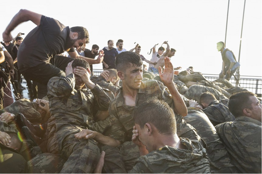 Turkish thugs and soldiers