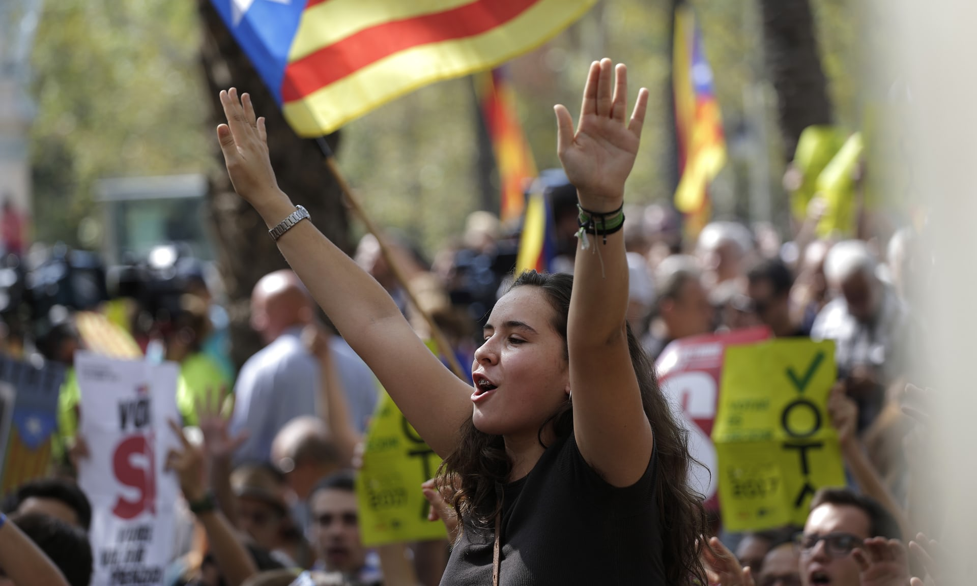 Catalan independence protestor