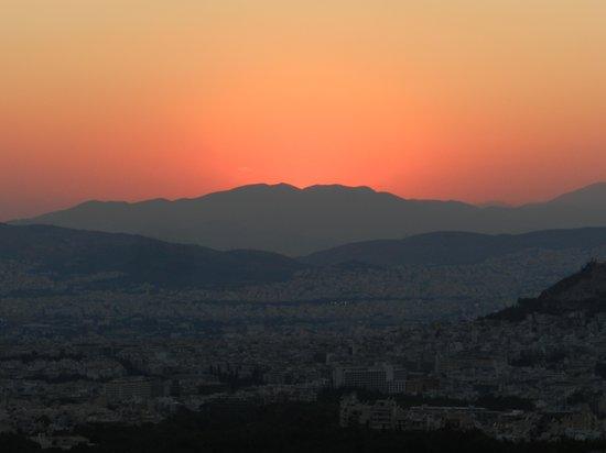 Hymettus Athens half-zoom-set-sun