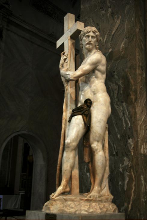 Risen Christ Michelangelo Santa Minerva Spro inserva